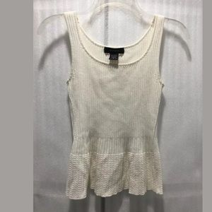 Express solid white tank top